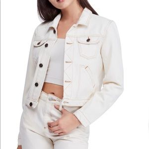Urban Outfitters BDG White Denim Jacket Si…